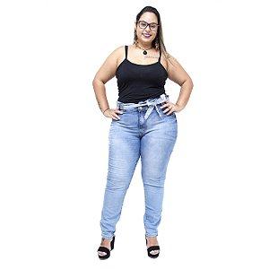 Calça Jeans Credencial Plus Size Clochard Yanessa Azul