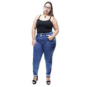 Calça Jeans Latitude Plus Size Skinny Gileide Azul