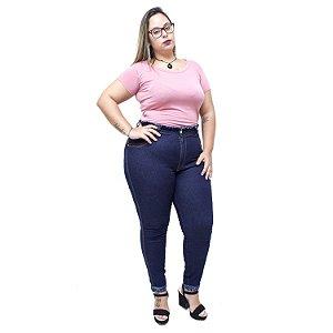 Calça Jeans Latitude Plus Size Skinny Valdeide Azul