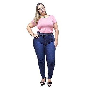Calça Jeans Latitude Plus Size Clochard Erielma Azul