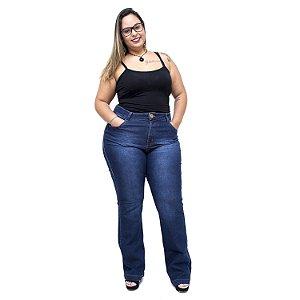 Calça Jeans Xtra Charmy Plus Size Flare Luciellen Azul