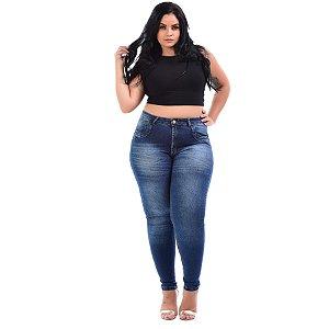 Calça Jeans Latitude Plus Size Skinny Gleiciele Azul