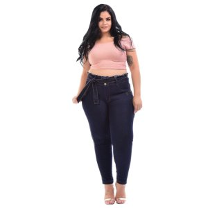 Calça Jeans Latitude Plus Size Skinny Andaluzia Azul