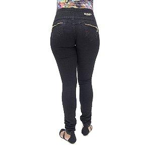 Calça Jeans Feminina Meitrix Preta Levanta Bumbum com Elástico