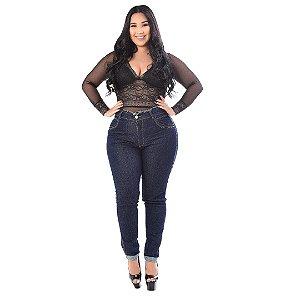 Calça Jeans Latitude Plus Size Skinny Gecianne Azul