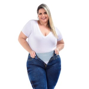 Calça Jeans Latitude Plus Size Skinny Avani Azul