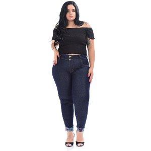 Calça Jeans Latitude Plus Size Skinny Annaisa Azul