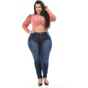 Calça Jeans Helix Plus Size Skinny Larah Azul
