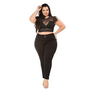 Calça Jeans Credencial Plus Size Skinny Nelli Preta