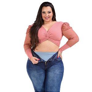 Calça Jeans Latitude Plus Size Skinny Semira Azul