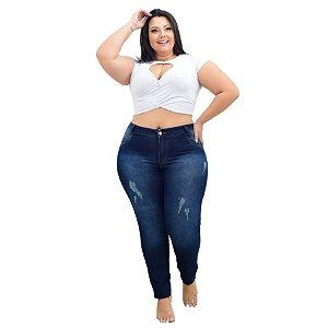 Calça Jeans Credencial Plus Size Skinny Izirone Azul