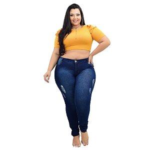 Calça Jeans Credencial Plus Size Skinny Weiny Azul