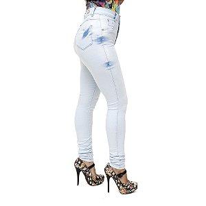 Calça Jeans Feminina Legging Clara Credencial Hot Pants Cintura Alta