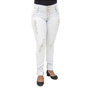 Calça Jeans Feminina Legging Helix Clara Rasgada com Elástico
