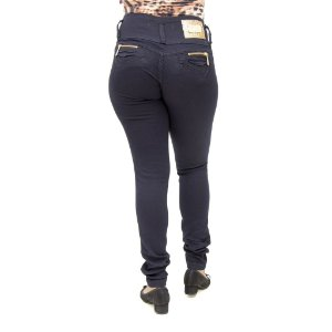 Calça Jeans Feminina Legging Hevox Azul Marinho Levanta Bumbum
