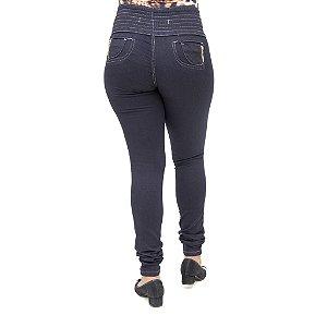 Calça Jeans Legging Feminina S Planeta Escura Levanta Bumbum com Elástico