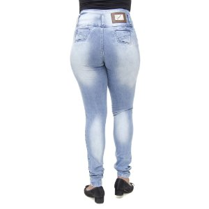 Calça Jeans Legging Feminina S Planeta Clara Levanta Bumbum Cintura Alta