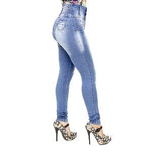 Calça Jeans Legging Feminina S Planeta Azul Levanta Bumbum Cintura Alta