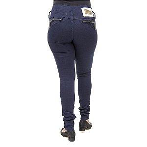 Calça Jeans Feminina Legging Thomix Azul Marinho Levanta Bumbum