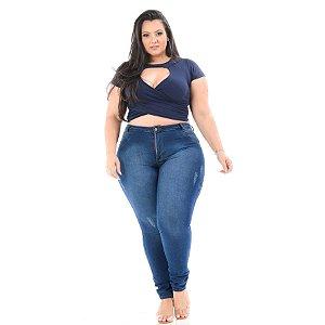 Calça Jeans Helix Plus Size Skinny Janiara Azul