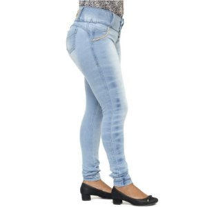 Calça Jeans Legging Feminina Meitrix Levanta Bumbum Cós Alto