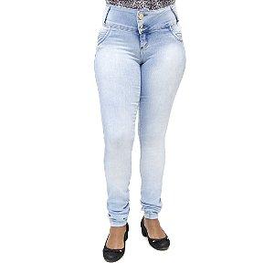 Calça Jeans Feminina Legging Bel Belita Clara Levanta Bumbum