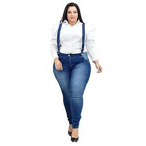 Calça Jeans Credencial Plus Size Skinny Cleidionice Azul