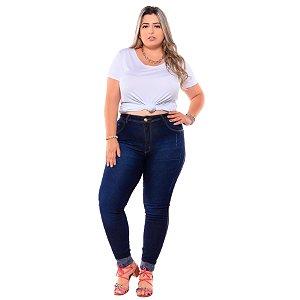 Calça Jeans Latitude Plus Size Skinny Nildilene Azul