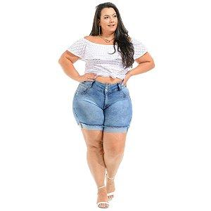 Bermuda Jeans Latitude Plus Size Heloyze Azul