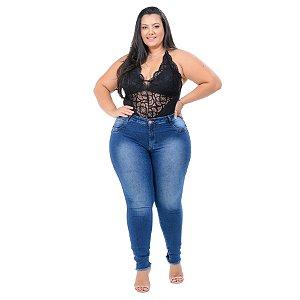 Calça Jeans Potencial Plus Size Skinny Giliana Azul