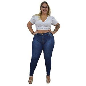 Calça Jeans NForce Plus Size Skinny Layslaisa Azul