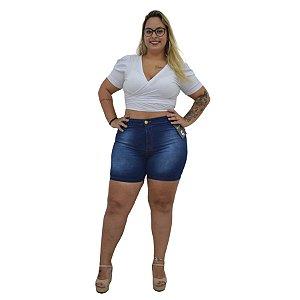 Bermuda Jeans NForce Plus Size Skinny Alcinda Azul