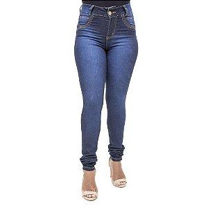 Calça Jeans Feminina Legging Credencial Azul Hot Pant Cintura Alta