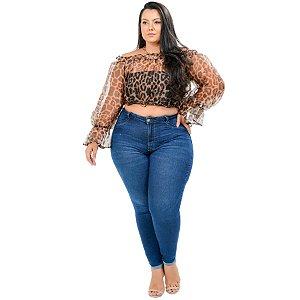 Calça Jeans Cambos Plus Size Skinny Adryella Azul