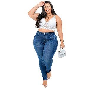 Calça Jeans Cambos Plus Size Skinny Euzelia Azul