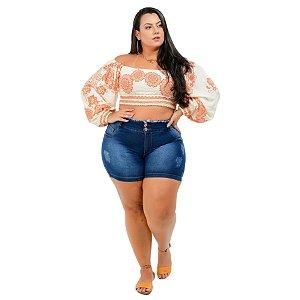 Shorts Jeans Potencial Plus Size Eliosmara Azul