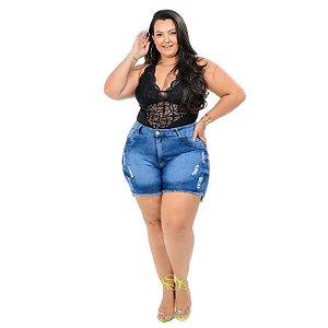 Bermuda Jeans Latitude Plus Size Bobiana Azul