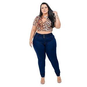 Calça Jeans Hevox Plus Size Skinny Hadanish Azul