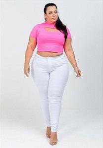 Calça Jeans Potencial Plus Size Skinny Dauany Branca