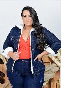 Jaqueta Jeans Xtra Charmy Plus Size Nycolli Azul