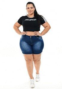 Shorts Jeans Hevox Plus Size Terumi Azul