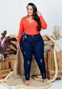 Calça Jeans Helix Plus Size Skinny Siluane Azul