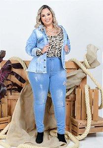 Calça Jeans Helix Plus Size Skinny Leylliane Azul