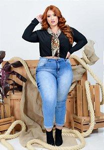 Calça Jeans Helix Plus Size Capri Nellie Azul