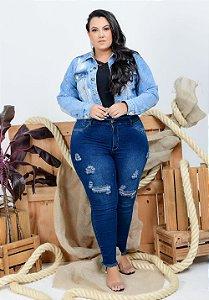 Calça Jeans Helix Plus Size Cigarrete Annelize Azul