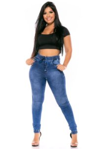 Calça Jeans Helix Jogger Jeruska Azul