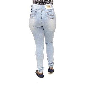 Calça Jeans Feminina Legging Credencial com Lavagem Clara