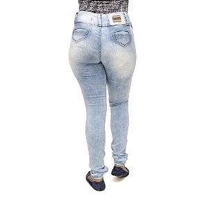 Calça Jeans Feminina Legging Credencial com Lavagem Clara Levanta Bumbum