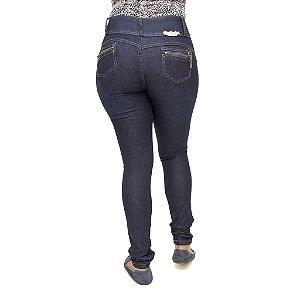 Calça Jeans Feminina Legging Meitrix Azul Escura Levanta Bumbum