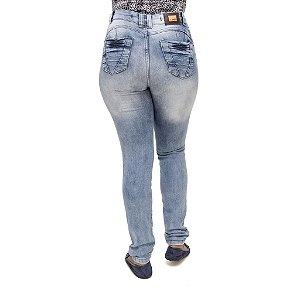 Calça Jeans Feminina Legging S Planeta Hot Pants Clara com Cintura Alta